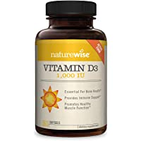 NatureWise Vitamin D3 1,000 IU (1 Year Supply) for Healthy Muscle Function, Bone...