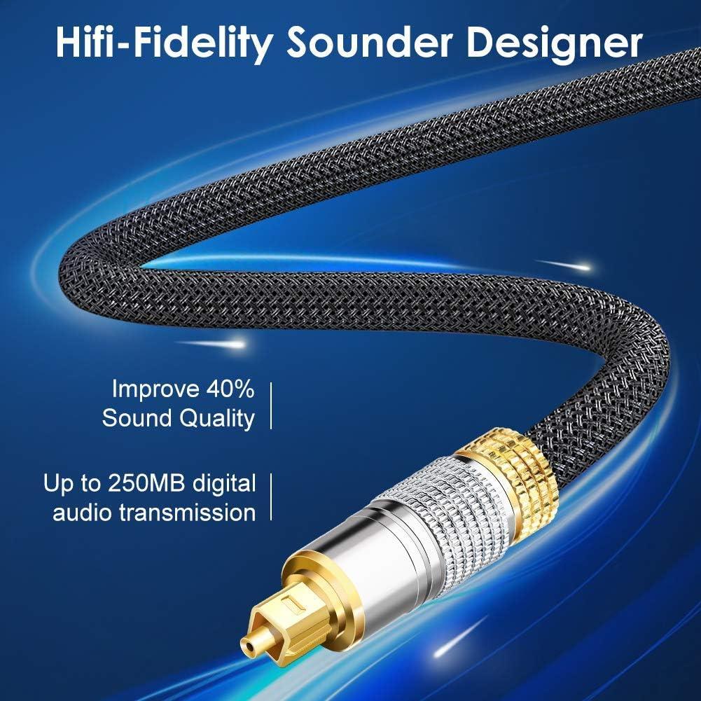 Techole Digital to Analog Audio Converter Techole Optical Audio Cable 6ft