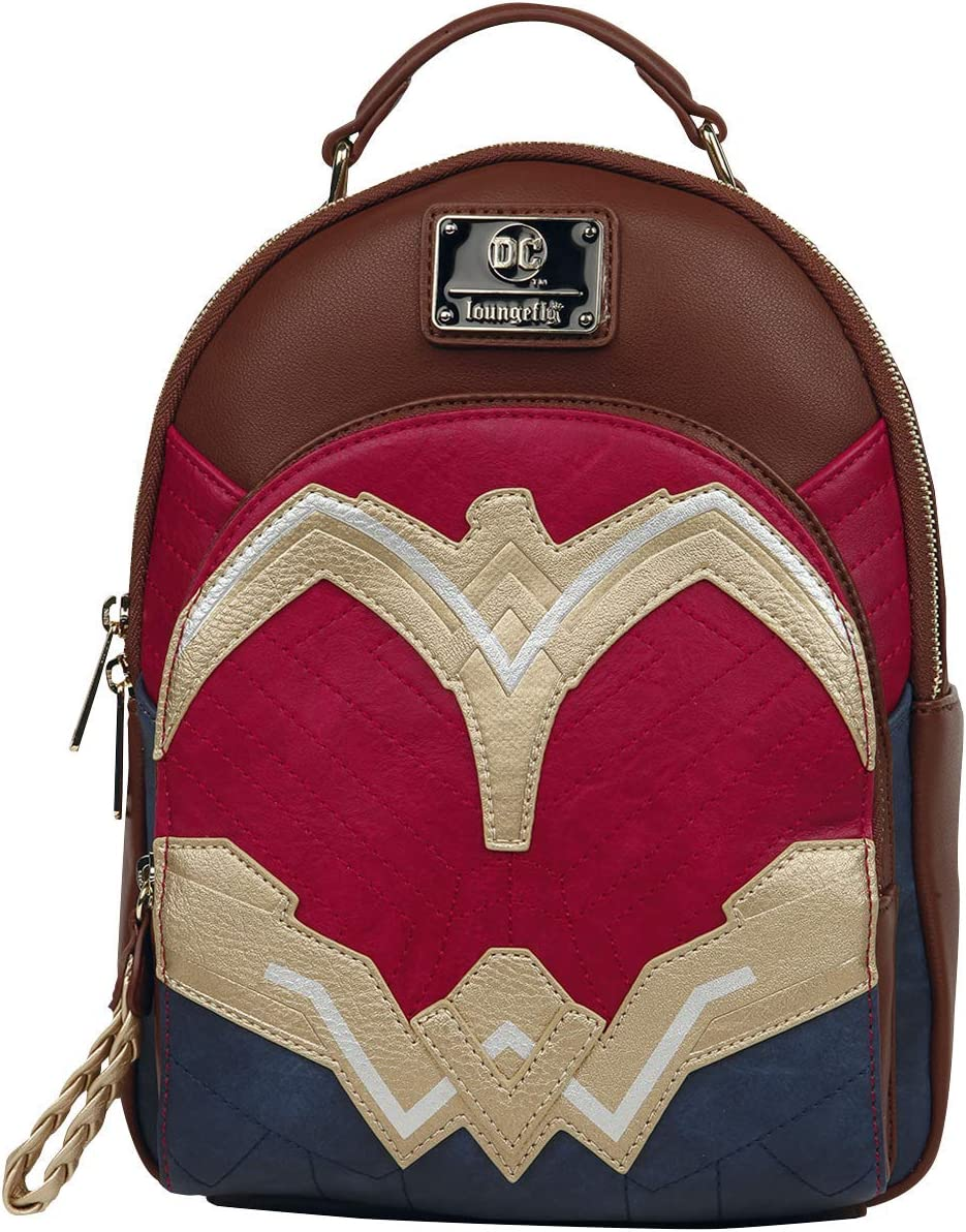 Loungefly Wonder Woman Faux Leather Mini Backpack Standard