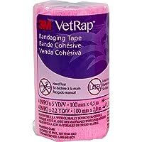 3M Vetrap Bandaging Tape, 100mm, Hot Pink
