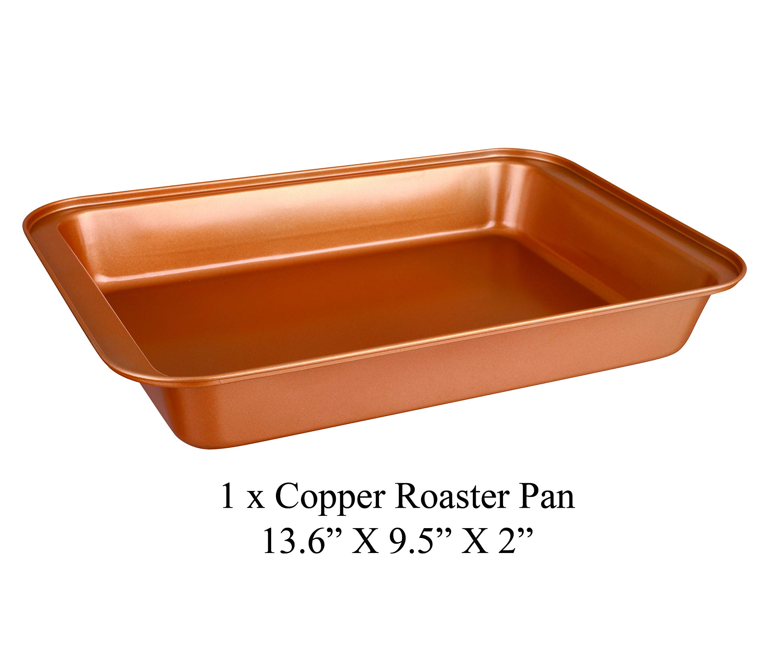 CopperKitchen Baking Pans - 3 pcs Toxic Free NONSTICK - Organic Environmental Friendly Premium Coating - Durable Quality - Rectangle Pan, Cookie Sheet - BAKEWARE SET (3) by CopperKitchenUSA (Image #5)