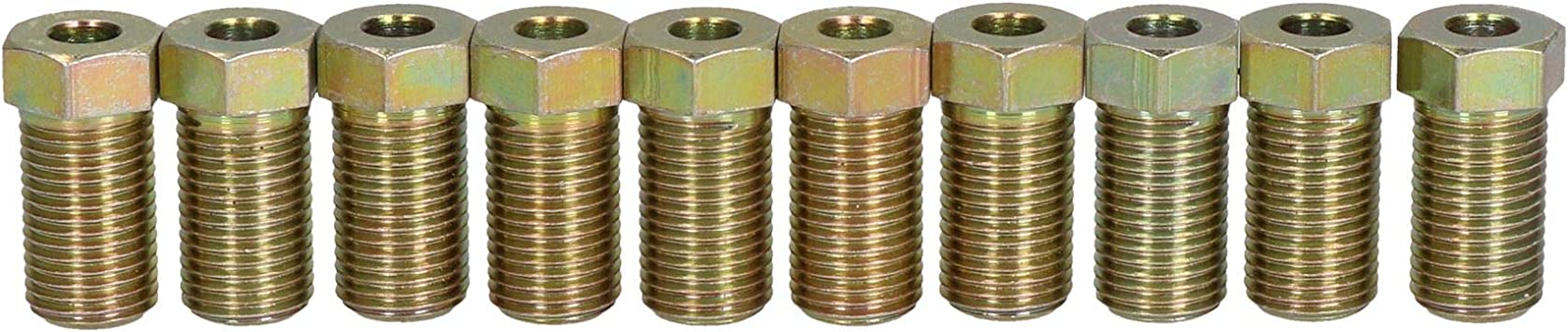 """AB Tools-Bond Steel Male Brake Pipe Union Fittings 3//8 x 24 UNF for 3//16/"""" Brake Pipe 10pc"""