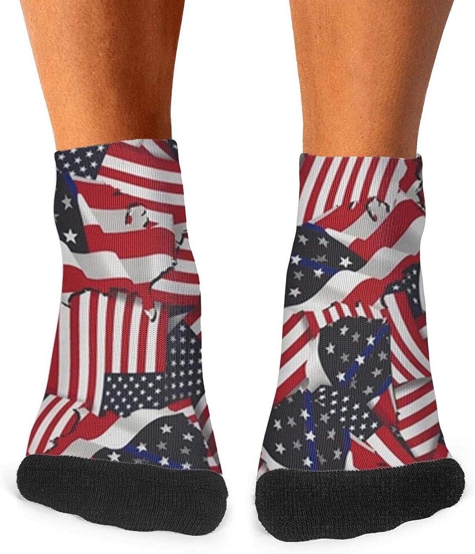 Floowyerion Mens American Flag Color Novelty Sports Socks Crazy Funny Crew Tube Socks