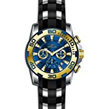 Invicta Men's 'Pro Diver' Quartz Stainless Steel and Silicone Casual Watch, Color:Black (Model: 22339)