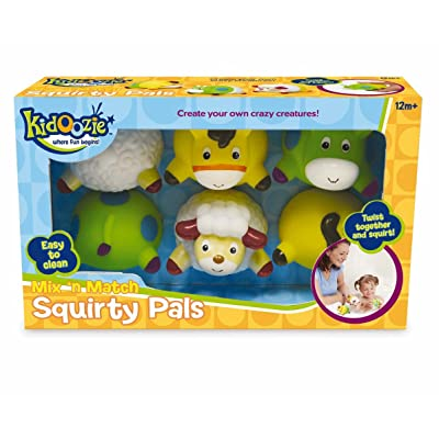 Kidoozie Mix 'n Match Squirty Pals Bath Toy: Toys & Games