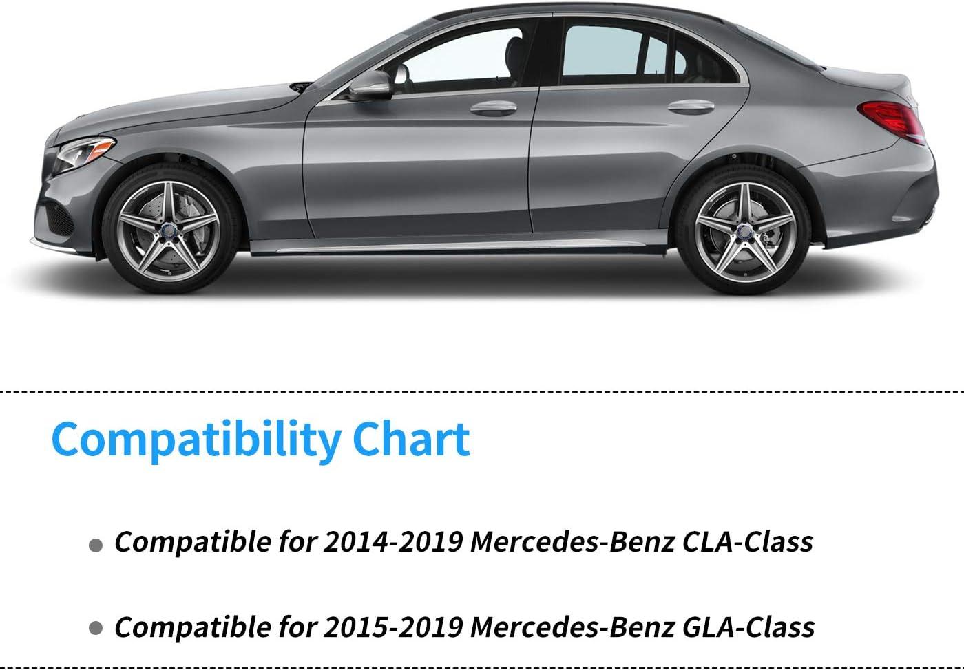 SMARTLINER Custom Fit Floor Mats 2 Row Liner Set Black for 2014-2019 Mercedes Benz CLA 2015-2019 GLA