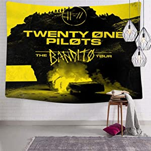 FGFGFG Twenty One Pilot-s Show Tapestry Wall Hanging Tapestries Wall Blanket for Living Room Bedroom Dorm Decor 59.1 x 82.7 Inch