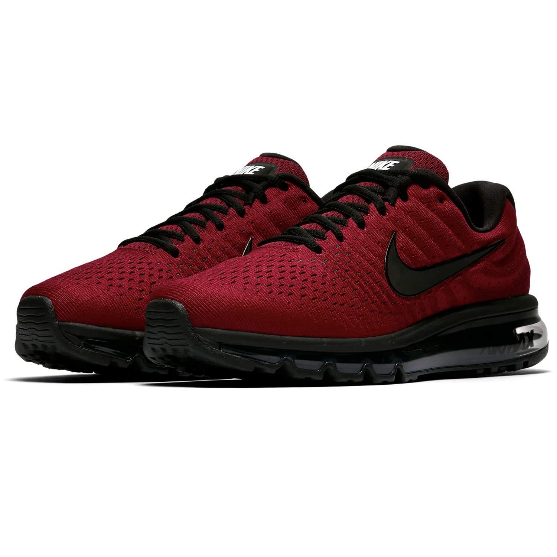 669f65b618 Amazon.com | NIKE Mens Air Max 2017 Running Shoes (12 M US, Team Red/Black-Dark  Grey) | Road Running