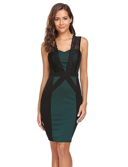 98788ad8a84ac Burlady Women's Classy Ruched Asymmetric Neck Cap Sleeve Official Bodycon  Pencil Dress