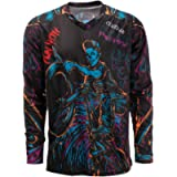 JPOJPO Men's Cycling Jersey MTB T Shirt Long Sleeve Mountain Bike Motorcycle Bicycle Clothes Anti-UV