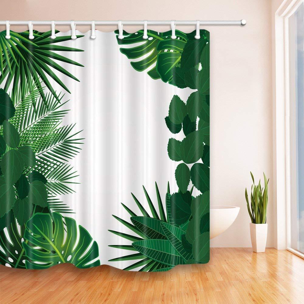 QEES Anti Mildew Bathroom Shower Curtain With Peacock Animal On Bath Decoraiton YLB16