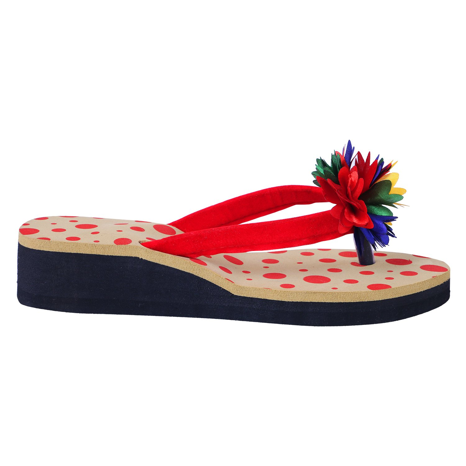 Flower with Design Chappal for Ladies
