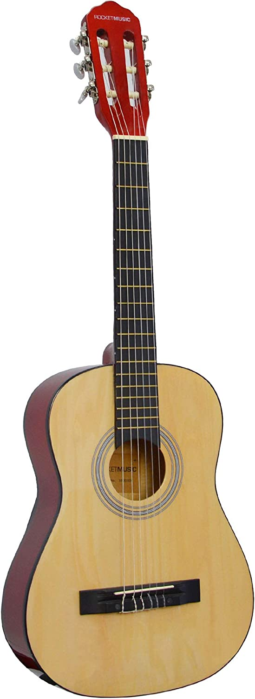 Rocket Music CG12N - Guitarra clásica, color marrón