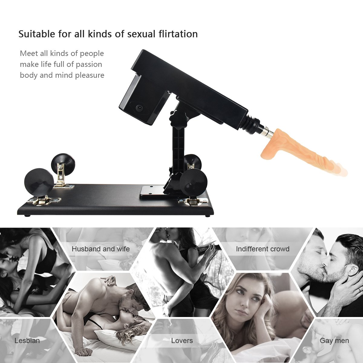 Female Sex Machine Toys Products Electric Automatic Attachments Men and Women Masturbation Sex Machine by iKenmu (Image #3)