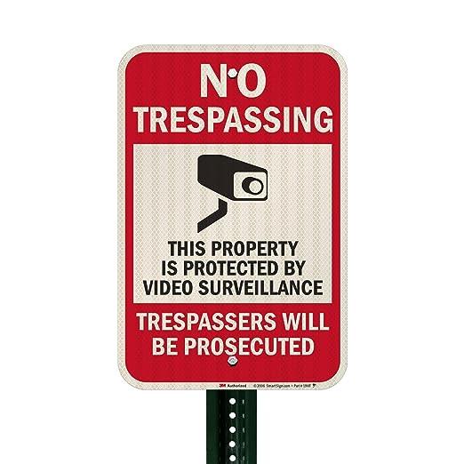 """Amazon.com: SmartSign, cartel de seguridad, leyenda """"No ..."""