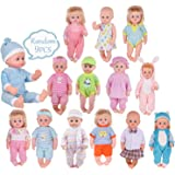 50729bdb13e50 Amazon.com: WakaoFeeling 6 Pack Fun Outfits Baby Doll Clothes for ...