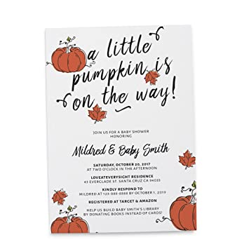 024f498c3675  quot Little Pumpkin quot  Halloween Theme Baby Shower Invitation Cards