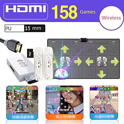 Dance mat Quality Double Light Emitting Wireless PU HDMI TV Interface for Kids and Adults MTV Dance 158 Games Yoga Slimming Massage -2020 (Color : Gray, Size : 15mm): Home & Kitchen