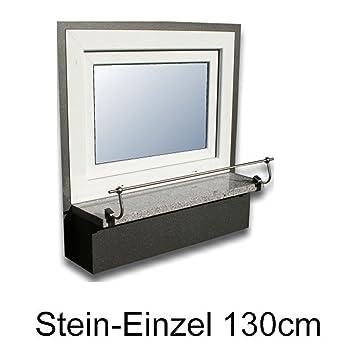 Blumenkasten-Halterung 130 cm, Edelstahl f. Stein-Fensterbänke ...