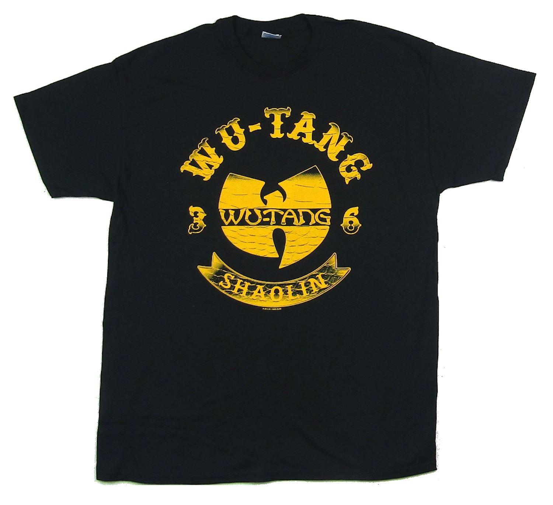 Wu Tang Clan Shaolin 36 Fade Logo T Shirt 1533