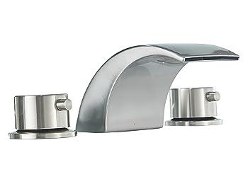 Aquafaucet Led Waterfall Commercial Bathroom Faucet