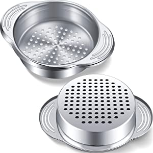 2 Pack Tuna Strainer Stainless Steel Food Can Strainer Oil Press Canning Drainer Colander Tuna Can Filter for Beans, Vegetables and More
