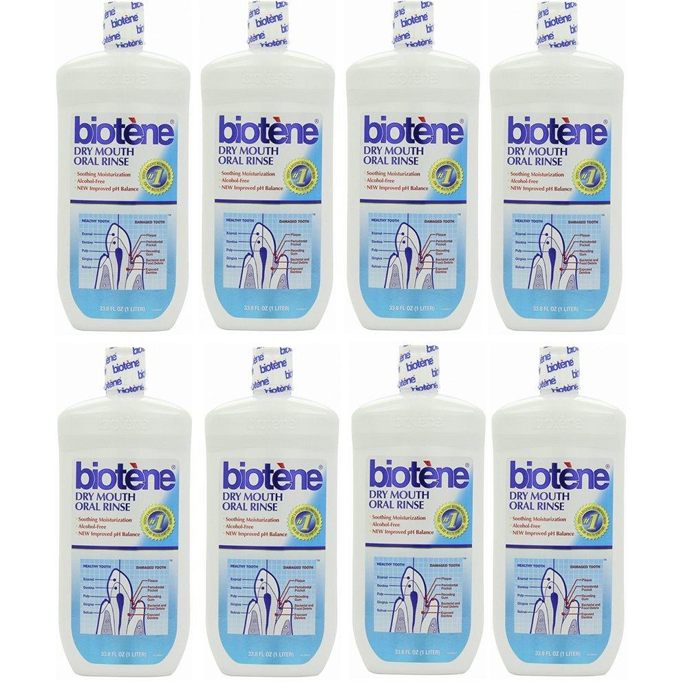 8 Pack Wholesale Lot Biotene Oral Rinse Mouthwash for Dry Mouth Symptoms 33.8 oz