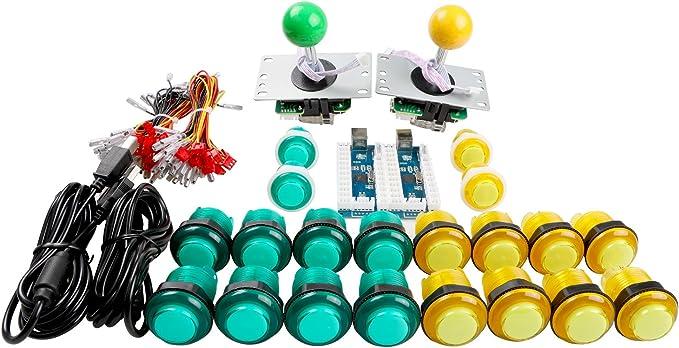 2 Joystick Balance World Inc Zero Delay Arcade DIY Kit 2 USB Encoder PC 20 Push Buttons for MAME