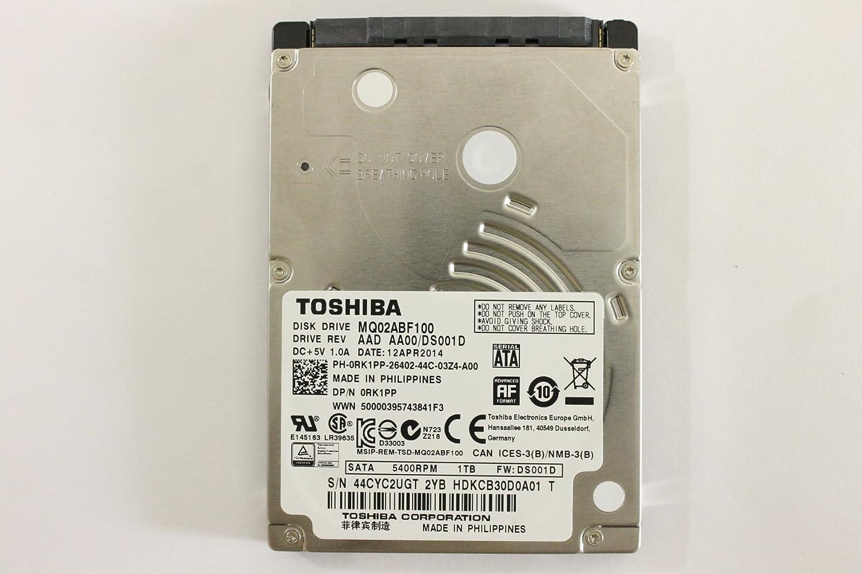 """Dell RK1PP MQ02ABF100 2.5"""" SATA Thin 1000GB 5400 Toshiba Laptop Hard Drive Latitude E6440"""