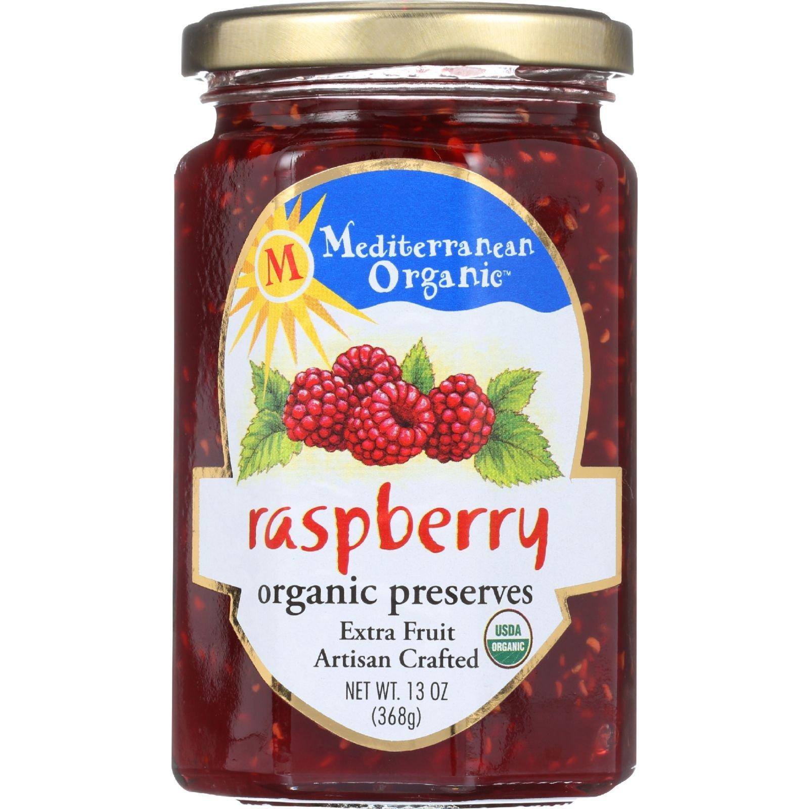 Mediterranean Organic Organic Raspberry Preserves - 13 oz