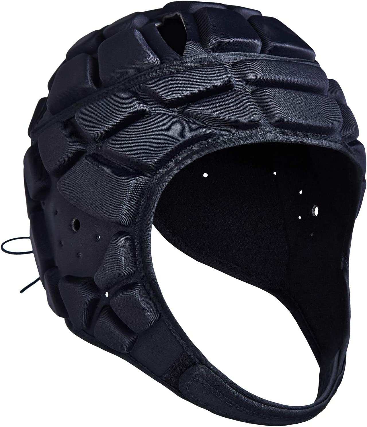 COOLOMG Soft Padded Headgear 7v7 Soft Shell Head Protector Goalkeeper Adjustable Soccer Goalie Helmet Support Rugby Flag Football Helmet Youth Adults : Sports & Outdoors