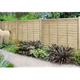 Free-standing Picket Fence Panels Smooth Timber Point Top ...