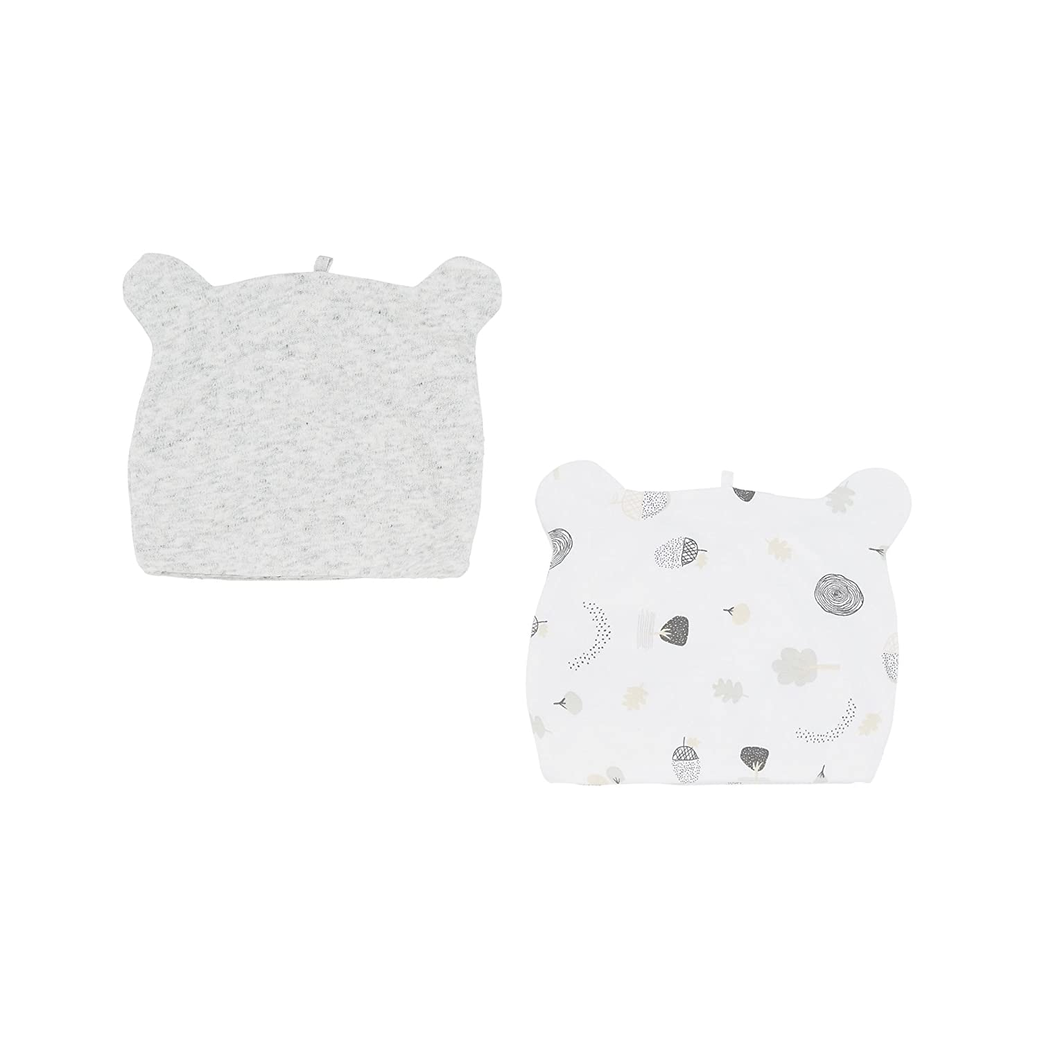 Little Acorn Hats - 2 Pack Grey Marl Mothercare MA640