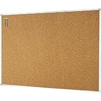 Lockways Corkboard Bulletin Board - Double Sided Cork Board 1200 x 900mm Notice Message Board - Silver Aluminium Frame