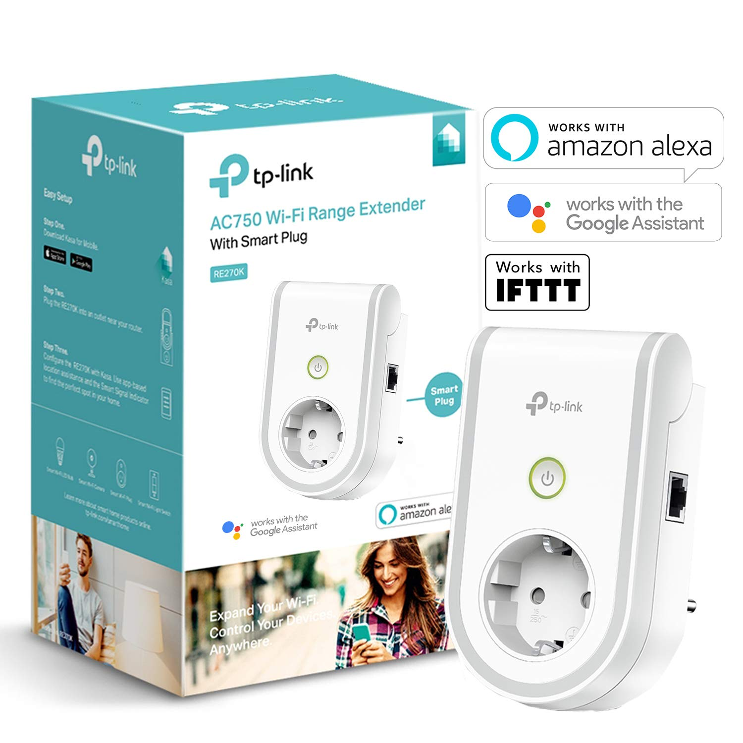 TP-Link RE270K - Enchufe Inteligente y repetidor Extensor de Red...