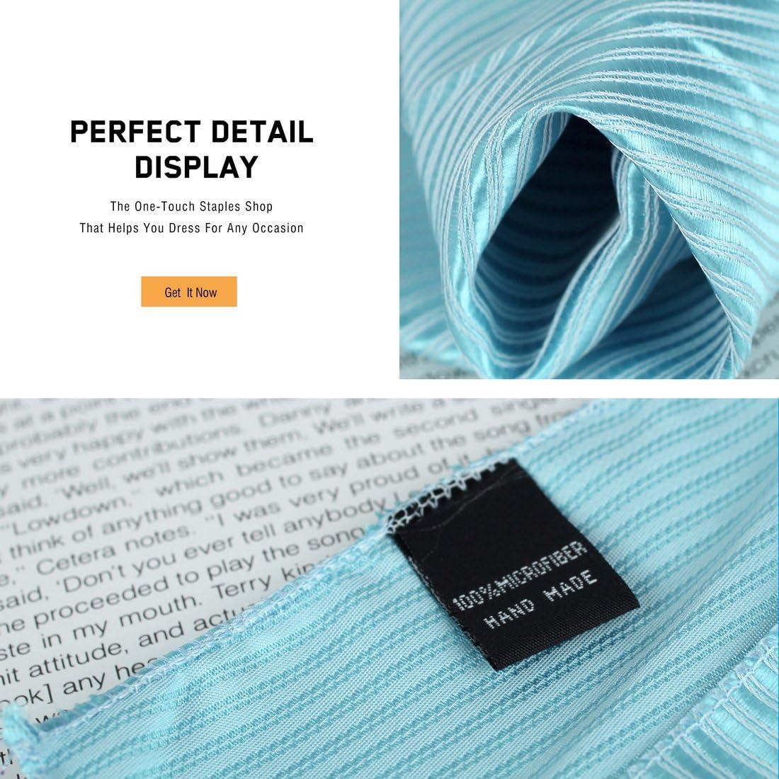 Black DEAA0001 Fashion Stripes Pocket Square For Meeting Mens Microfiber Easter Sunday Gift 3 Hankerchiefs Set White Dark Violet By Dan Smith
