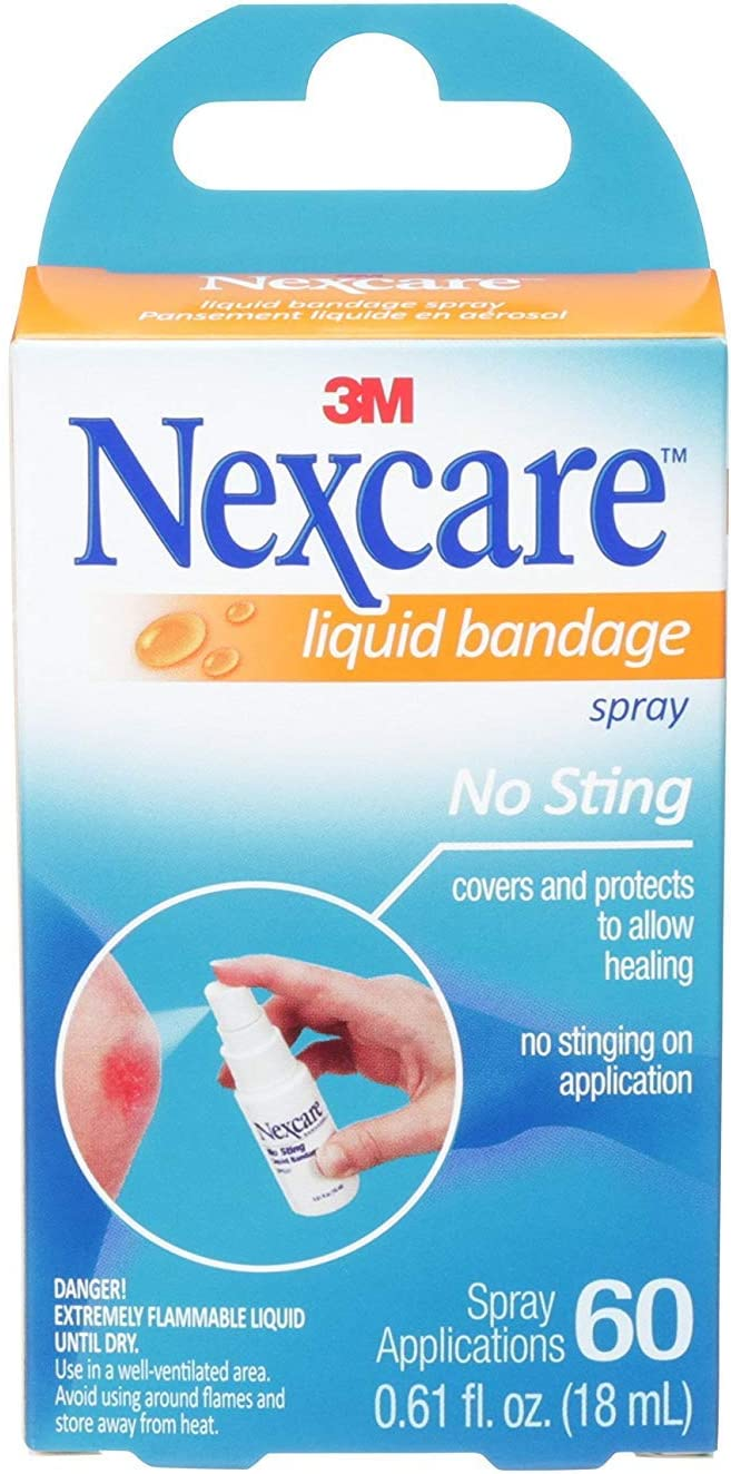 Nexcare Liquid Bandage Spray 0.61 oz (Pack of 2): Health & Personal Care