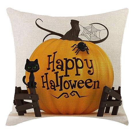 Amazon.com: Nayi Halloween calabaza funda de almohada fundas ...