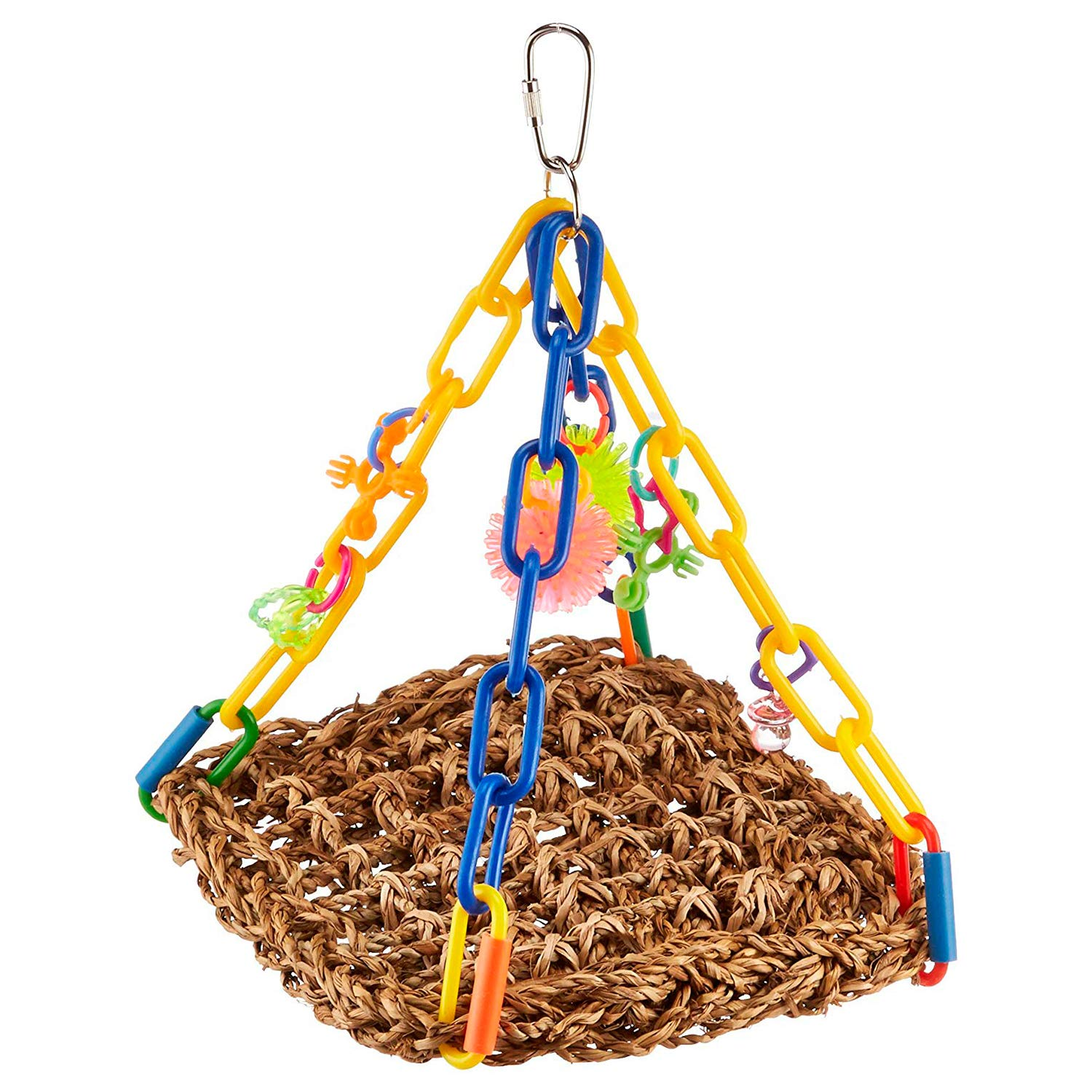"Super Bird Creations SB747 Bright Colorful Mini Flying Trapeze Chewable Bird Toy, Small Size, 6"" x 7"" x 9"""