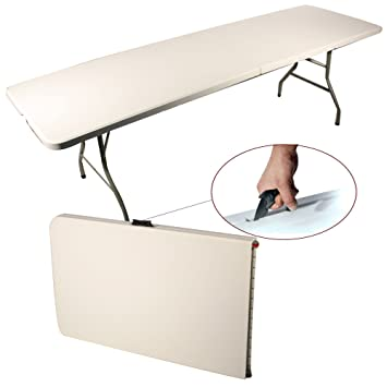 Table Pliante Pliable Cm Table Buffet Camping Portable Pliant - Table pliante 240 cm pour idees de deco de cuisine