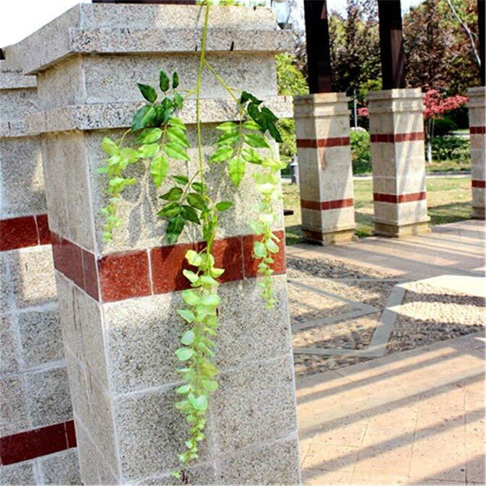 シルク造花 藤のつる 花 結婚式 ガーデン パーティー ハンギング 飾り サイズ 長さ110cm (ホワイト) One Size グリーン HYGTFRR45144821 B07G5MY6BC グリーン One Size
