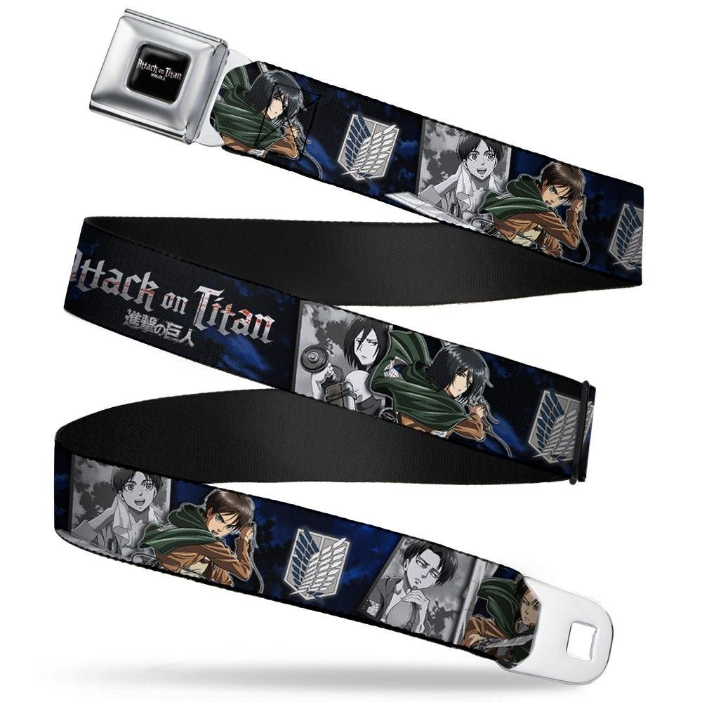 Buckle-Down Seatbelt Belt ATTACK ON TITAN Scouting Regiment Group Blues 1.5 Wide 24-38 Inches in Length