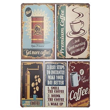 Amazon EffortLife Coffee Vintage Funny Metal Tin Sign Retro