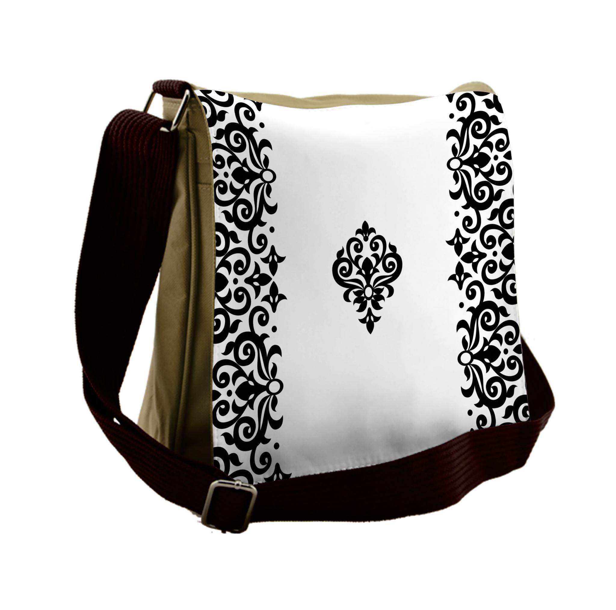 Lunarable Oriental Messenger Bag, Wedding Theme Middle East, Unisex Cross-body