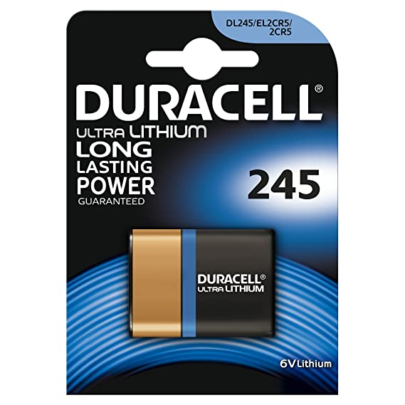 Duracell Specialty 2CR5 245 Lithium Photo Camera Battery, pack of 1 General Purpose Batteries & Battery Chargers at amazon