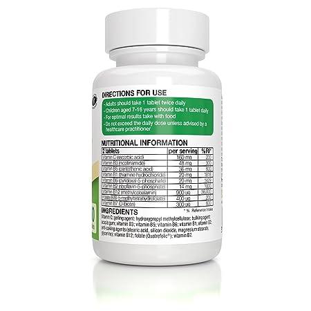 super b komplex vitamin b komplex mit hoher absorption mit folat und methylcobalamin plus vitamin c 60 tabletten amazon de drogerie korperpflege