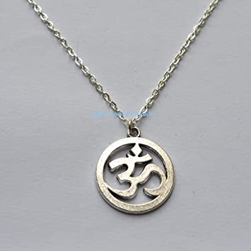 Amazon om necklace for men mens silver chain necklace gift om necklace for men mens silver chain necklace gift for him silver om aloadofball Images