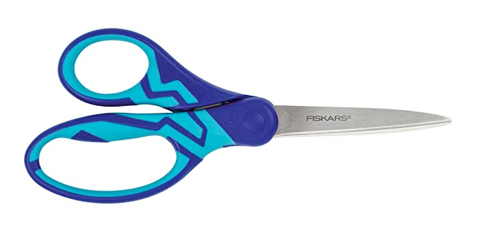 Fiskars 199700-1001 Softgrip Student Scissors, 7 Inch, Color Received May Vary