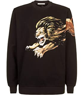 e37c8aa518dbe Givenchy Leo Oversized Lion Print T-Shirt Top Tee Signature Black ...