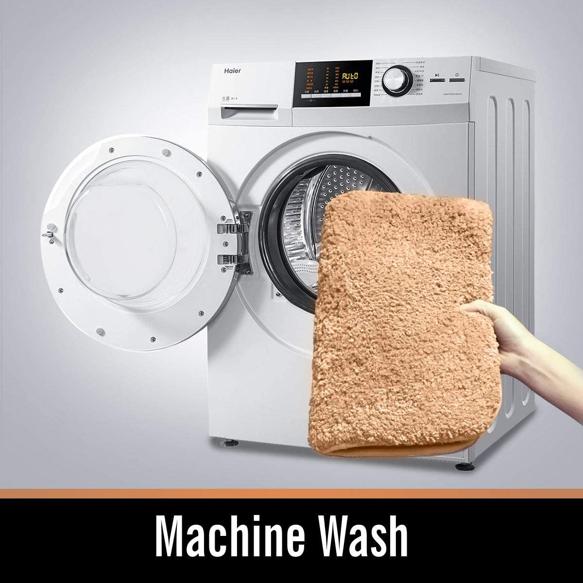 Salle de bain et WC Cuisine & Maison Beige ZCZUOX Tapis de Bain  Antidérapant Microfibre Douce Lavable en Machine 50x80 cm Salle de bain et  WC Cuisine & Maison allopizzaterrebonne.com